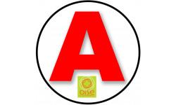 stickers / autocollant A de l'Oise