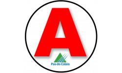 Sticker / autocollant : A62 Le Pas de calais - 15cm
