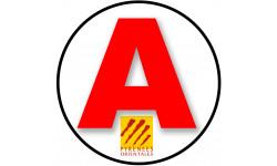 stickers / autocollant A des Pyrénées orientales