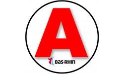 stickers / autocollant A du Bas-Rhin