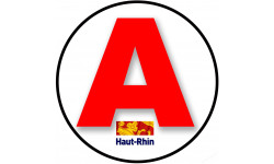 stickers / autocollant A du Haut-Rhin