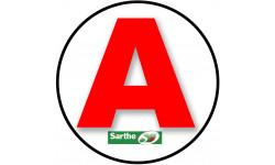Sticker / autocollant : A 72 La Sarthe - 15cm