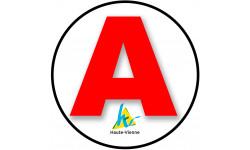 Sticker / autocollant : A 87 La Haute Vienne - 15cm