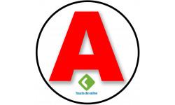 Sticker / autocollant : A 92 Les Hauts de Seine - 15cm
