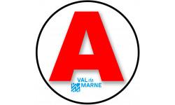 Sticker / autocollant : A 94 Le Val de Marne - 15cm