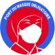 sticker autocollant Port du masque respiratoire obligatoire
