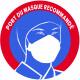 sticker autocollant Port du masque respiratoire recommandé