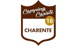 Sticker / autocollant : Camping car Charente 16 - 15x11.2cm