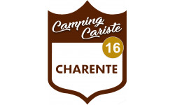 Sticker / autocollant : Camping car Charente 16 - 20x15cm