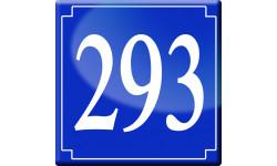 Sticker / autocollant : numéroderue293 - classique
