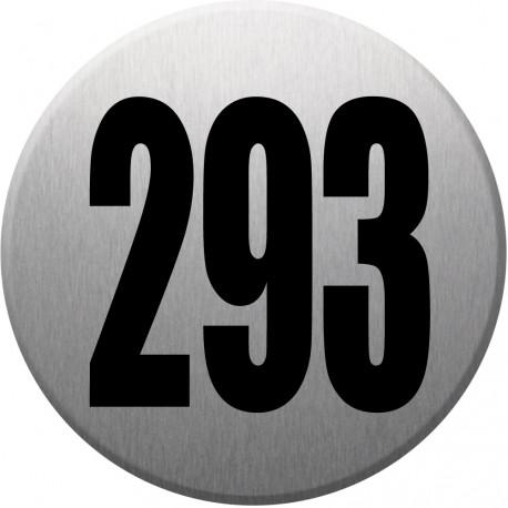 Sticker / autocollant : numéroderue293 - gris brossé