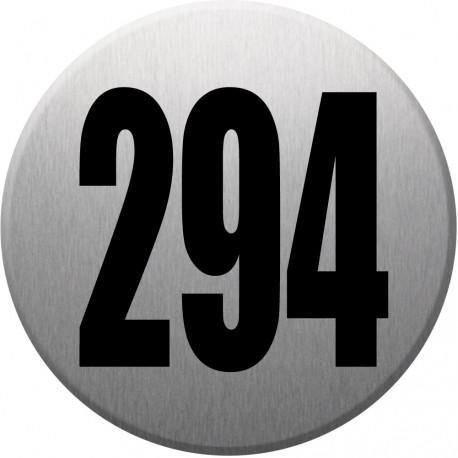 Sticker / autocollant : numéroderue294 - gris brossé