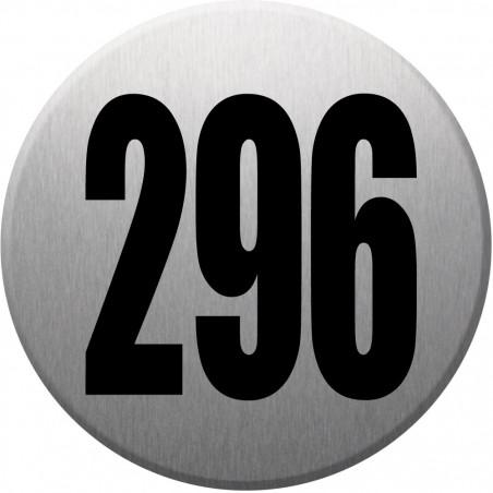 Sticker / autocollant : numéroderue296 - gris brossé