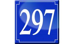 Sticker / autocollant : numéroderue297 - classique