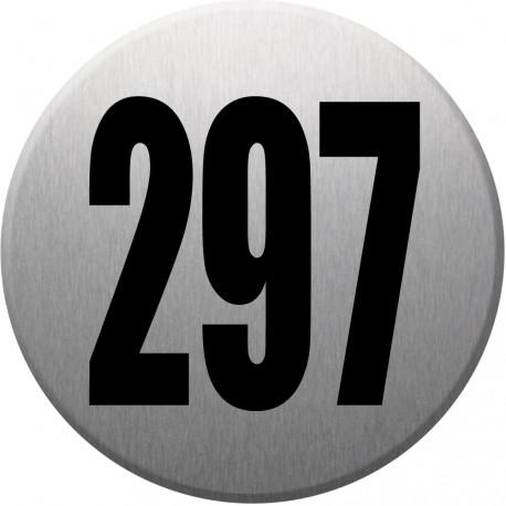 Sticker / autocollant : numéroderue297 - gris brossé