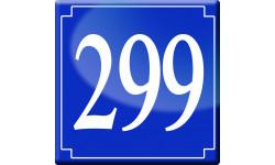 Sticker / autocollant : numéroderue299 - classique