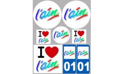 stickers / autocollant département de l'ain
