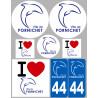 Sticker / autocollant : Département 44 Pornichet - 8 autocollants variés