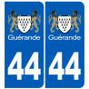 Sticker / autocollant : numéro immatriculation 44 Guérande