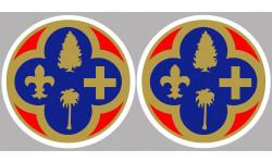 Sticker / autocollant : Département Les Alpes Maritimes 06  - 2 autocollants logo
