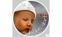 ne pas sonner bébé dort - 10cm