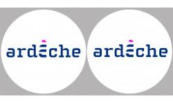 Sticker / autocollant : Département l'Ardèche 07  - 2 autocollants logo