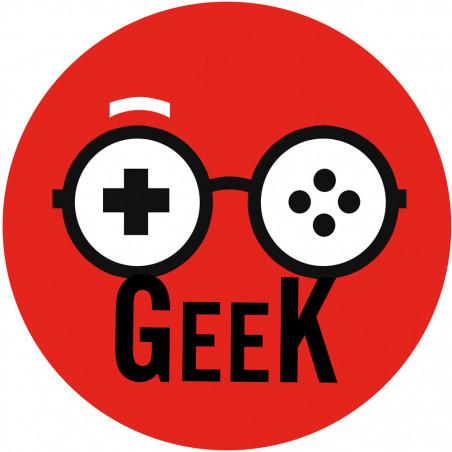 Sticker / autocollant : Geek manette de jeu - 5cm