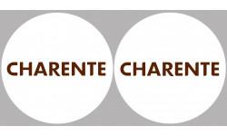 Sticker / autocollant : Département La Charente 16  - 2 autocollants logo