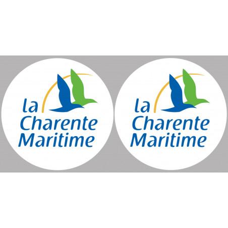 Sticker / autocollant : Département La Charente Maritime 17  - 2 autocollants logo