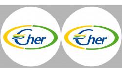 Sticker / autocollant : Département Le Cher 18  - 2 autocollants logo