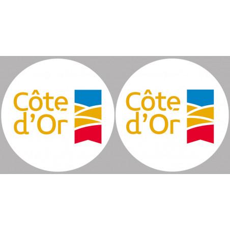 Sticker / autocollant : Département La Côte d'Or 21 - 2 autocollants logo