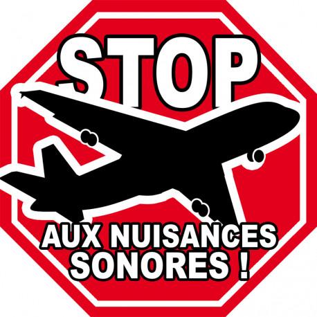 Sticker / autocollant : Stop aux nuisances sonores - 10cm