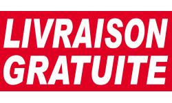 Sticker /autocollant :  Livraison gratuite - 30x14cm
