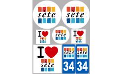 Sticker / autocollant : ville de Sète