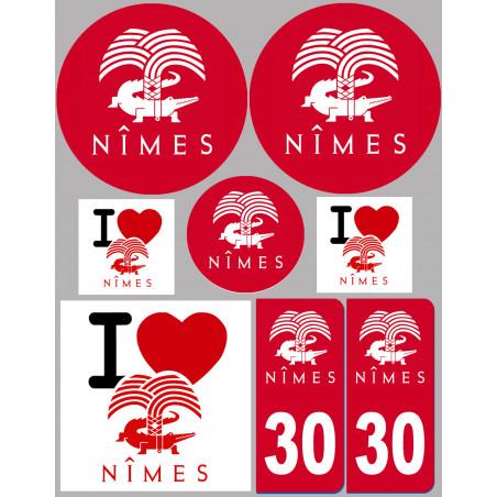 Sticker / autocollant : ville de Nîmes