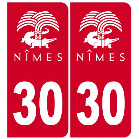 Sticker / autocollant : immatriculation ville de Nîmes