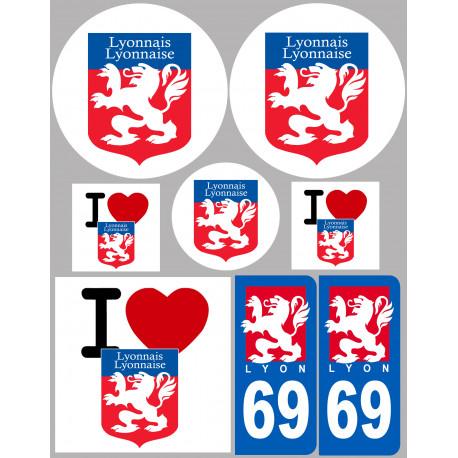 Sticker / autocollant : Ville de Lyon