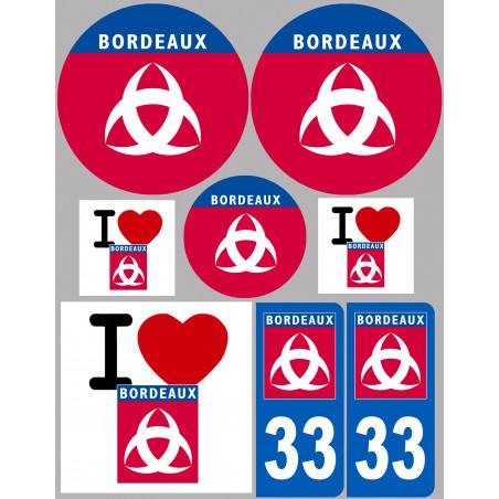 Sticker / autocollant : ville de Bordeaux