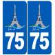 immatriculation 75 Tour Eiffel