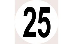 Disques de limitation de vitesse 25