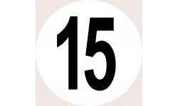 Disques de limitation de vitesse 15
