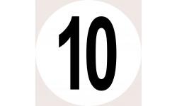 Disques de limitation de vitesse 10