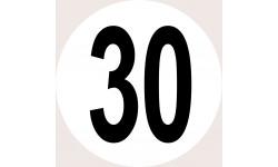 Disques de limitation de vitesse 30