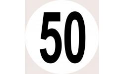 Disques de limitation de vitesse 50