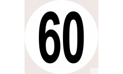 Disques de limitation de vitesse 60