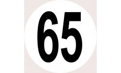 Disques de limitation de vitesse 65