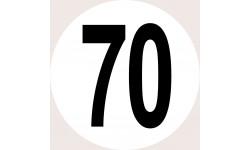 Disques de limitation de vitesse 70