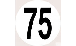 Disques de limitation de vitesse 75