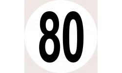 Disques de limitation de vitesse 80