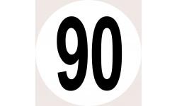 Disques de limitation de vitesse 90
